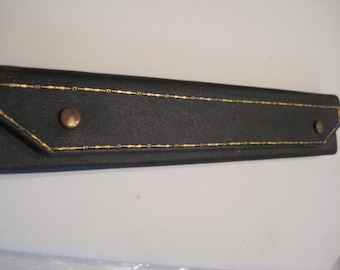 antique bracelet box with gold etchings,...dark blue,..unique...