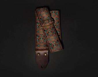 Antique retro guitar strap