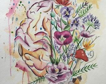 Mind of Flowers Print
