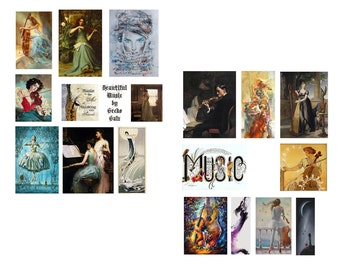 Beautiful Music Collage Set