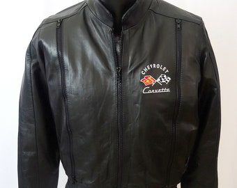50'S-70's C1 Corvette Leather Embroidered Jacket  M New W/Tags