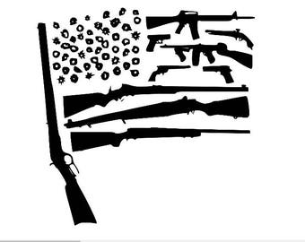 Gun Flag Second Amendment T Shirt
