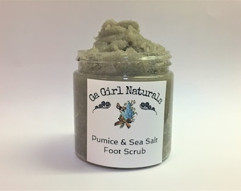 Pumice and Sea Salt Foot Scrub, Foot Exfoliate, Foot Peel With Coconut Oil and Shea Butter