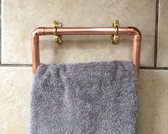 Industrial Style Copper Single Towel Holder