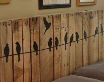 Shabby chic rustic primitive crow on wire headboard Huge sale free ship