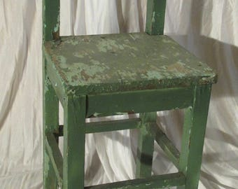 Antique Primitive Weathered Child's Chair