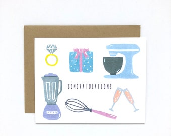 Wedding Gifts - Bridal Shower Card, Wedding Card