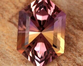 9.12 Carat Bolivian Ametrine Gemstone Precision Cut Gem