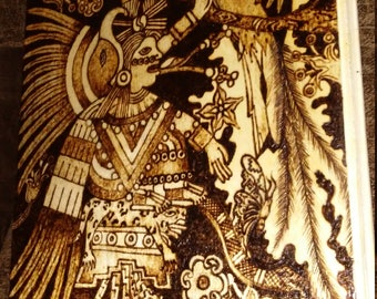 Xochiquetzal wood burning