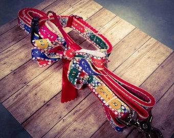 Dog collar and leash set, coach dog collar, designer dog collar