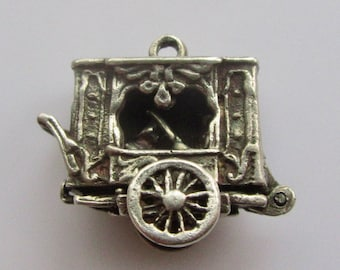 Sterling Punch and Judy Show Opening Charm or Pendant