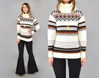 70's Southwestern Knit Turtleneck