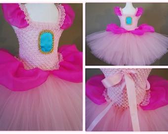 FAST SHIPPING - Princess Peach Inspired Dress - Super Mario- tutu dress- baby tutu dress- kids costume - halloween party & Princess peach costume | Etsy