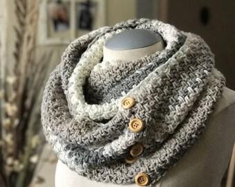 Crochet Cowl PATTERN - Crochet Brighton Cowl One Size