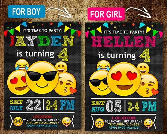 Emoji Birthday Invitation OMG Invitation Emoji Invitation