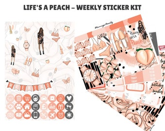 Life's a Peach - Weekly Sticker Kit