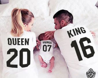 King Queen Prince Princess 01 Father Mother Son Matching shirts , King and Queen shirts, MATCHING FAMILY
