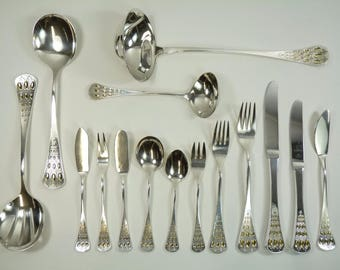 ROSENTHAL Sterling Silver Cutlery - Bjorn Wiinblad ROMANZE / Romance - Set for 6
