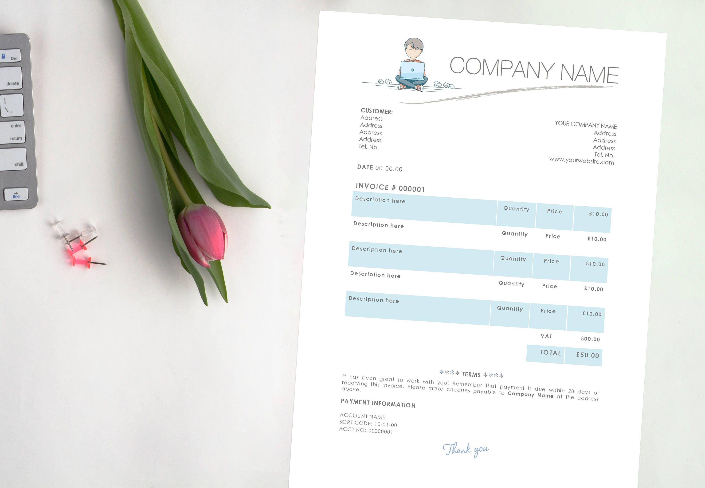Lehrer Rechnung & Quittung Vorlage Editierbare Word-Dokument