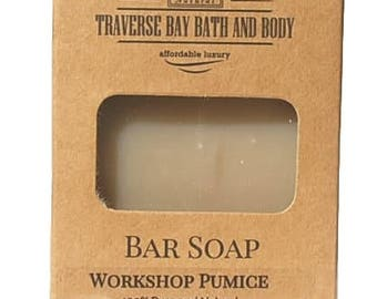 Workshop Pumice Handmade Cold process Soap, therapeutic essential oils.