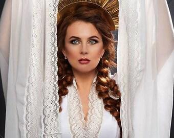 Gold Headdress Burning Man Queen Crown Fantasy Fest Costume Halloween Miami EDC EDM Showgirl headpiece Luxury Birthday girl Prom Wedding