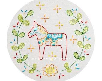 Embroidery Pattern Dala Horse Dalecarlian Dala Häst PDF