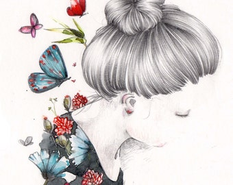 Illustration, Poster, Digital art print on paper.
