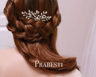 Bridal Hair Comb - More Than Happy Ferns Hair Comb - Made to Order