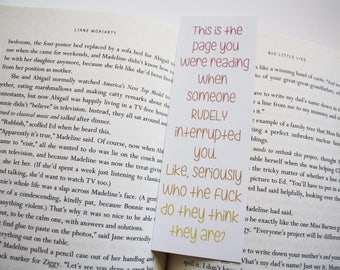 Rudely Interrupted Bookmark // Funny Bookmark // Funny Gift for Reader // Gift for Readers // Mature Bookmark // Gag Gift
