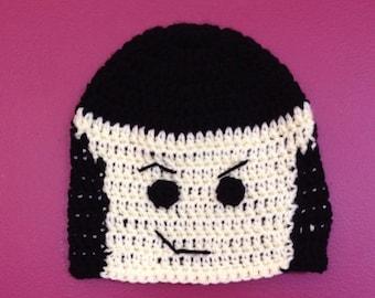 Emmet Lego Hat-  Crochet Lego Hat - Kids Halloween Costume - Toddler Halloween Costume - Baby Halloween Costume