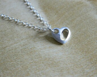 Sweetheart Necklace, Sterling Silver
