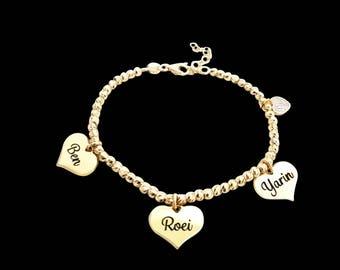 Personalized Mother Bracelet - Custom Mom Bracelet -  Kids Name Bracelet - Family Bracelet - Engraved Mom Bracelet - Mother Gift - Wife Gift
