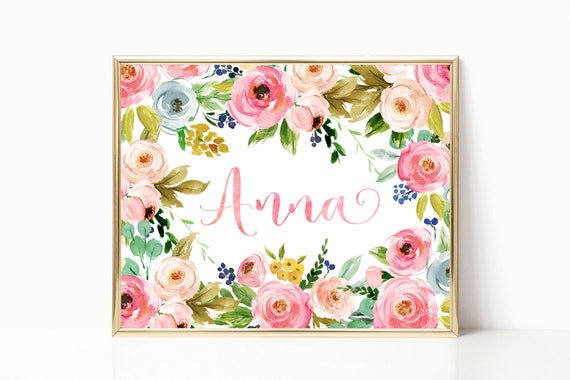 Floral nursery decor baby girl gift girl nursery wall art negle Gallery
