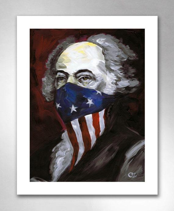 JOHN ADAMS Revolutionary Outlaw American Art Print 11x14 by Rob Ozborne