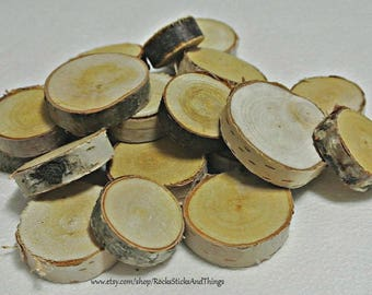 Birch Wood Slices, small rounds