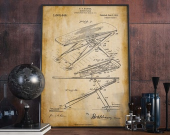Ironing Table Patent Print  Christmas Gift  Home Decor  Gift for Mom  Wall Poster  Gift for Tailor  Tailor Shop Decor  HPH072
