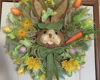 Green Hoppy Easter Wreath