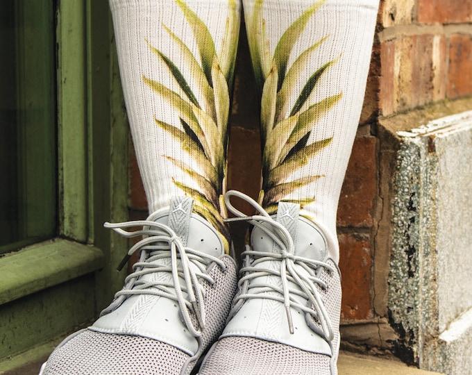 Samson® Pineapple Fruit Hand Printed Sublimation Socks Quality Print UK