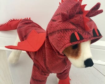 Red dragon costume by FiercePetFashion