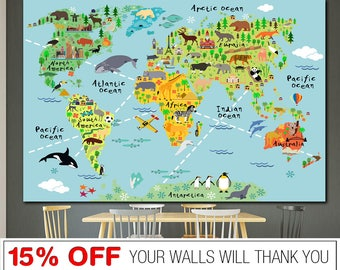 Kids world map etsy best selling items gumiabroncs Image collections