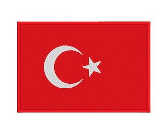 Turkey Turkish Flag Embroidery Machine Design