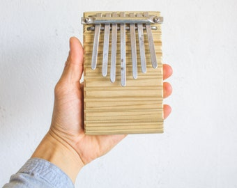 Kalimba / 7 reeds / hand made / one of a kind / thumb piano
