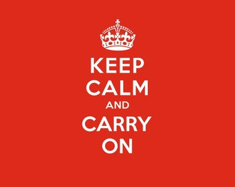 Keep Calm and Carry On SVG Cutting File