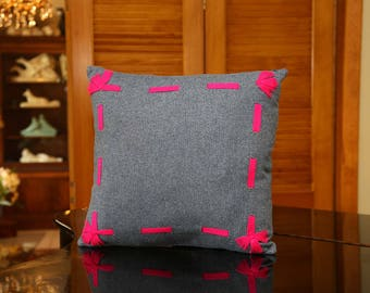 Decorative pillow European wool fabric