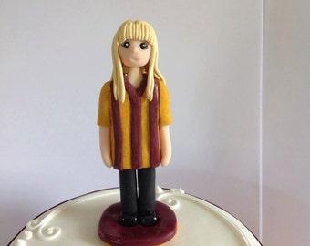 Cake topper - football fan - novelty celebration - cake decoration - hand crafted keepsake - custom made