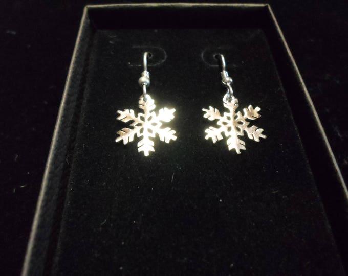 snowflake earrings dime size