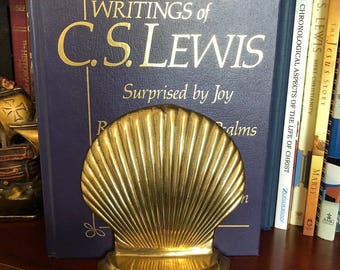 Brass Seashell Bookends (set of 2 bookends)