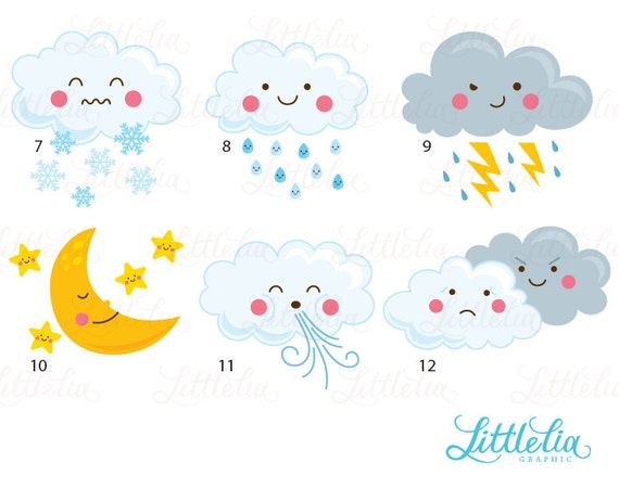 Weather kawaii clipart cute weather clipart 16036 weather kawaii clipart cute weather clipart 16036 voltagebd Image collections