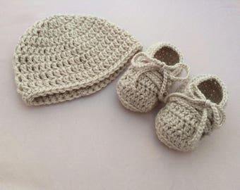 Baby Booties & Hat Set