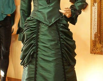 Bustle gown Victorian dress steampunk 19th century gown